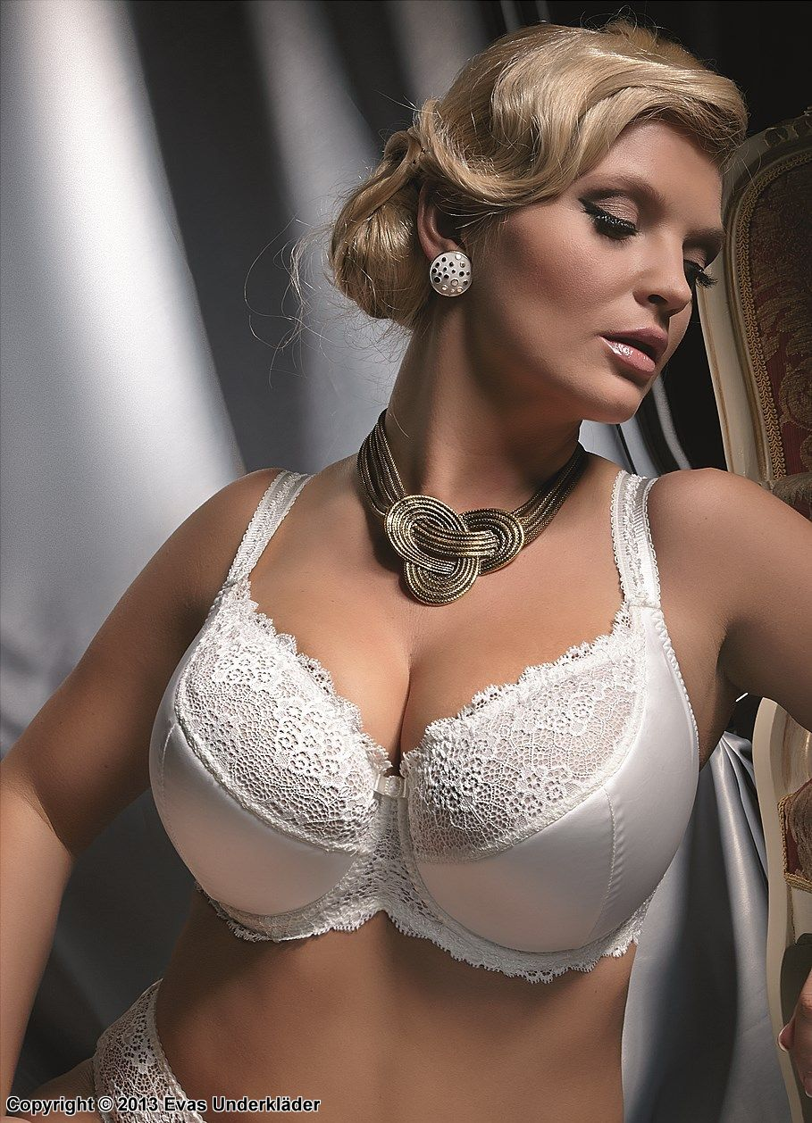 Romantic bra, lace, embroidery, B to K-cup